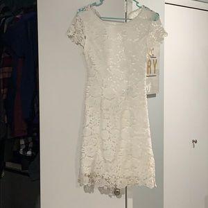 Lulus open back cap sleeve dress